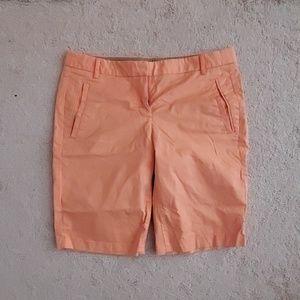 Jcrew tangerine Bermuda shorts